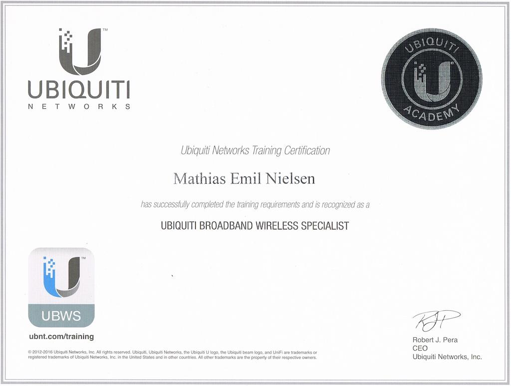 Certificeret Ubiquiti specialist