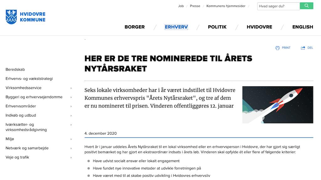 Artikel på Hvidovre.dk