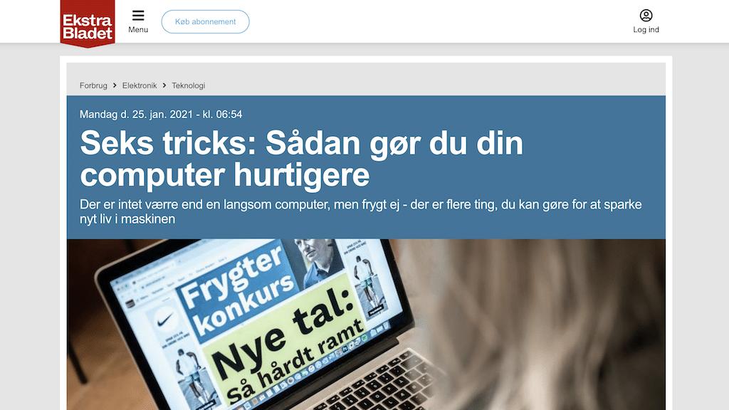 Ekstra Bladets positive omtale af GladTeknik